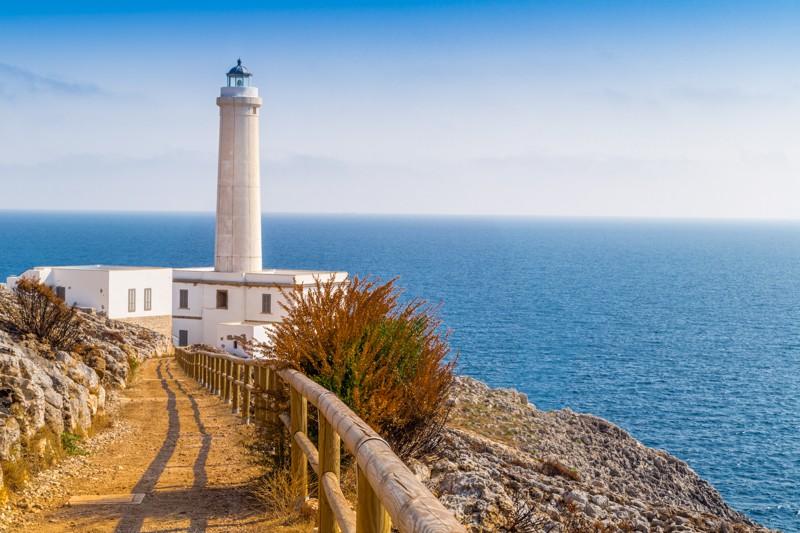 La fusione del mare Adriatico e Ionio nel Capo d'Otranto (Punta Palascia)