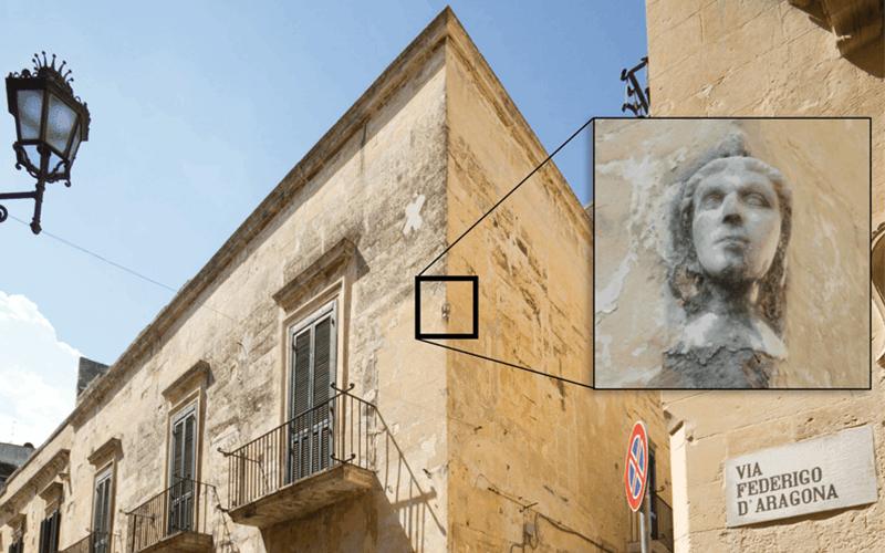 """La Leggenda della """"faccina"""" nel centro storico di Lecce"""
